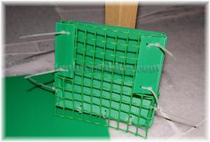 Secure mesh on with cable ties