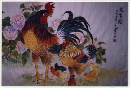 Rooster & Chicks